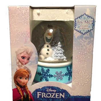 """Disney """"Olaf"""" Frozen Exclusive Collectible Musical Snow Globe - Plays Let It Go"""