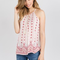 Breezy Tunic Tank in Red