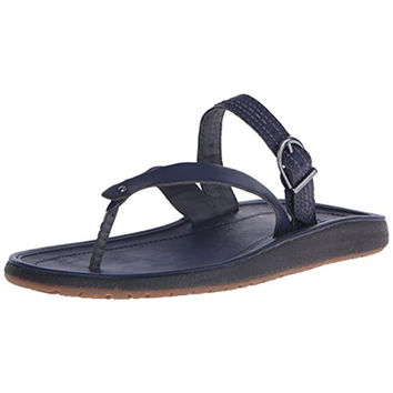 JBU by Jambu Womens Destin Vegan Leather Flat Thong Sandals