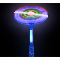 15in Swivel Spinner Wand in Red/ Blue
