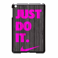 Nike Just Do It Wood Colored Darkwood Wooden Pink iPad Mini Case
