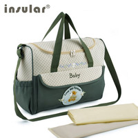 Insular Mummy Baby Bag Multifunctional Baby Diaper Changing Shoulder Bag Maternity Handbag for Mom