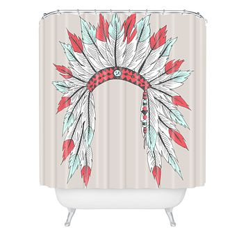 Wesley Bird Dressy Shower Curtain