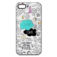 Funny Okay the Fault in Our Stars Case for Iphone 4 4s + Free Wristband Accessory