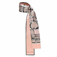 LV tide brand female models wild fashion scarves Pink
