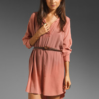 Gypsy 05 Sofia Shirttail Long Sleeve Dress in Red from REVOLVEclothing.com