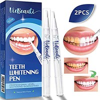 VieBeauti Teeth Whitening Pen(2 Pcs), Safe 35% Carbamide Peroxide Gel, 20+ Uses, Effective, Painless, No Sensitivity, Travel-Friendly, Easy to Use, Beautiful White Smile, Natural Mint Flavor