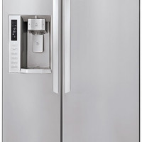 LG LSC24971ST: 23.5 cu. ft. Counter-Depth Side by Side Refrigerator in Stainless Steel