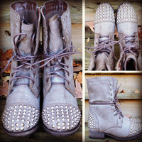 Zeppelin Ice Studded Combat Boots