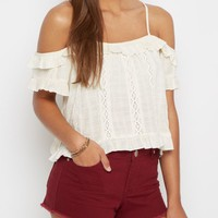 Ruffled Cold Shoulder Top By Wild Blue x Sadie Robertson™ | Cold Shoulder | rue21
