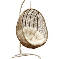 Abbyson Living Lamport Swinging Egg Chair - Brown