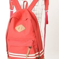Modern Girl's New Canvas Cute Fashion backpacks red