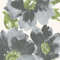 Dynamic Rugs Infinity Grey Floral Rectangle Area Rug