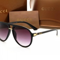 Gucci sunglass AA Classic Aviator Sunglasses, Polarized, 100% UV protection 2974244988 GGFP0015