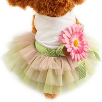 Sunflower Flower Decoration Dog Dress