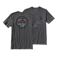 Patagonia Men's Rivet Logo Cotton/Poly T-Shirt | Forge Grey
