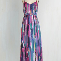 Boho Long Spaghetti Straps Maxi Rinsed by the Rain Dress in Jewel