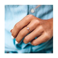 Moonstone Double Stone Ring Rose Gold