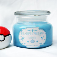 Squirtle - Pokemon Inspired Scented Soy Candle (Bubble)