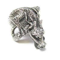Custom Sterling Asian Dragon Ring Size 10