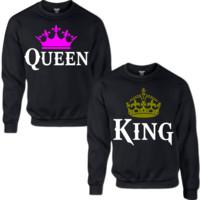 KING AND QUEEN COUPLE Crewneck Sweatshirt