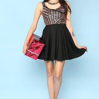 Spangle Point Flare Dress