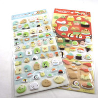 Kawaii Japan Sticker Sheet Assort: 2 SHEETS Puffy Sumikko Gurashi Fancy SUSHI For Decoration Planner Schedule Craft Scrapbook
