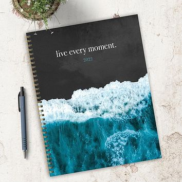 Live in the Waves Large Weekly Monthly Planner + Coordinating Planning Stickers