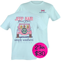 "Simply Southern ""Preppy Jeep"" T-shirt"