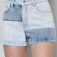 PacSun Raggidy Denim Mom Shorts at PacSun.com