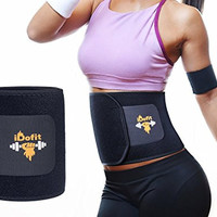 iDofit Premium Adjustable Waist Trimmer Belt - Sauna Belt Weight Loss Band Slimming Stomach Wrap Belly Fat Burner Sweat Tummy Wraps Abdominal Slimmer Lumbar And Low Back Support For Men and Women