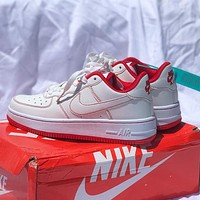 Nike Air Force 1 AF1 Low help colorblock low help men's and women's sneakers Shoes Red