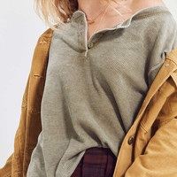 Truly Madly Deeply Thermal Henley Top   Urban Outfitters