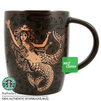 star338 12oz starbucks Mermaid Anniversary brown cup mug 2011 NEW