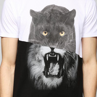 Pieced Panther Tiger Tee - Urban Outfitters