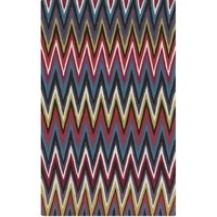 Diego Multi Color Chevron Outdoor Rug