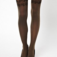 Falke Seam Rose Suspender Tights