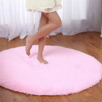 S&V Super soft round carpets chair cushion Yoga mats Area Rugs for bedroom and living room christmas decoration = 1932245828