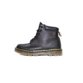 DR MARTENS black leather boots - made in england docs - 6 eye boot - 37 eu - 4 uk - womens 6 us