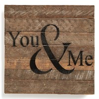 Second Nature by Hand 'You & Me' Repurposed Wood Wall Art