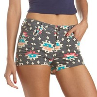 Aztec Print High Waisted Short: Charlotte Russe