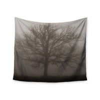 "Angie Turner ""Lonely Tree"" Dark Fog Wall Tapestry"
