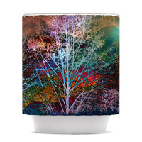 """Sylvia Cook """"Trees in the Night"""" Shower Curtain"""
