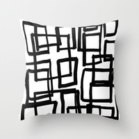 All Boxed Up Throw Pillow - Geometric Pillow - Modern Decor - Throw Pillow - Urban Decor - by Beverly LeFevre