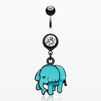 zzz-Super Cute Elephant Belly Button Ring