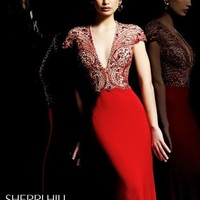 Sleek Evening Gown with Jewel Embellishments by Sherri Hill