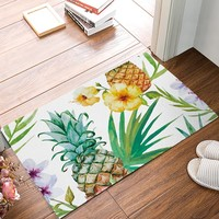Autumn Fall welcome door mat doormat Painting Art Pineapple Flowers s Kitchen Floor Bath Entrance Rug Mat Absorbent Indoor Bathroom Decor s AT_76_7