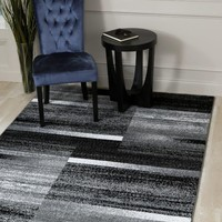 5894 Gray Modern Contemporary Area Rugs