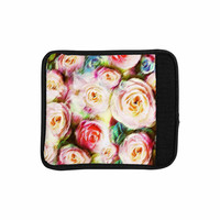 "Dawid Roc ""Pastel Rose Romantic Gifts"" Green Photography Luggage Handle Wrap"