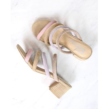 Sbicca - Alysheba Low Heel Strappy Sandal in Pastel Multi